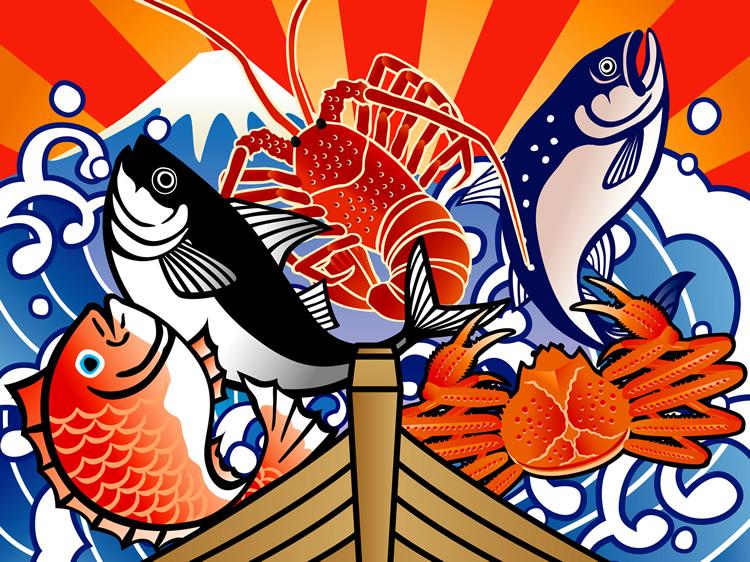 日本のグルメは海の幸